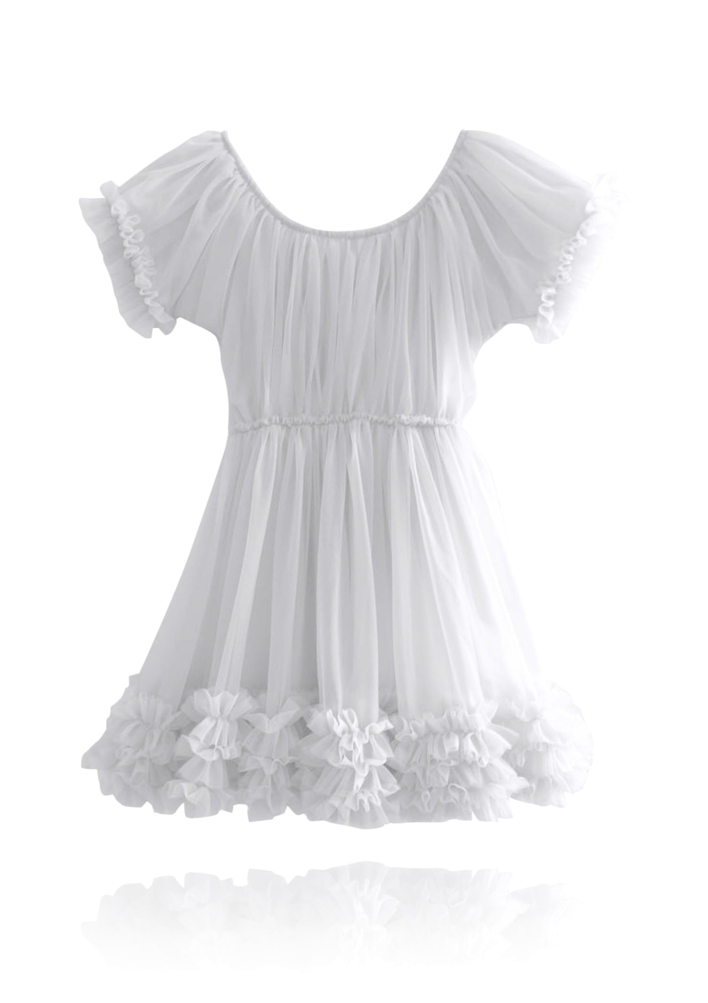 DOLLY by Le Petit Tom ® FRILLY DRESS off-white