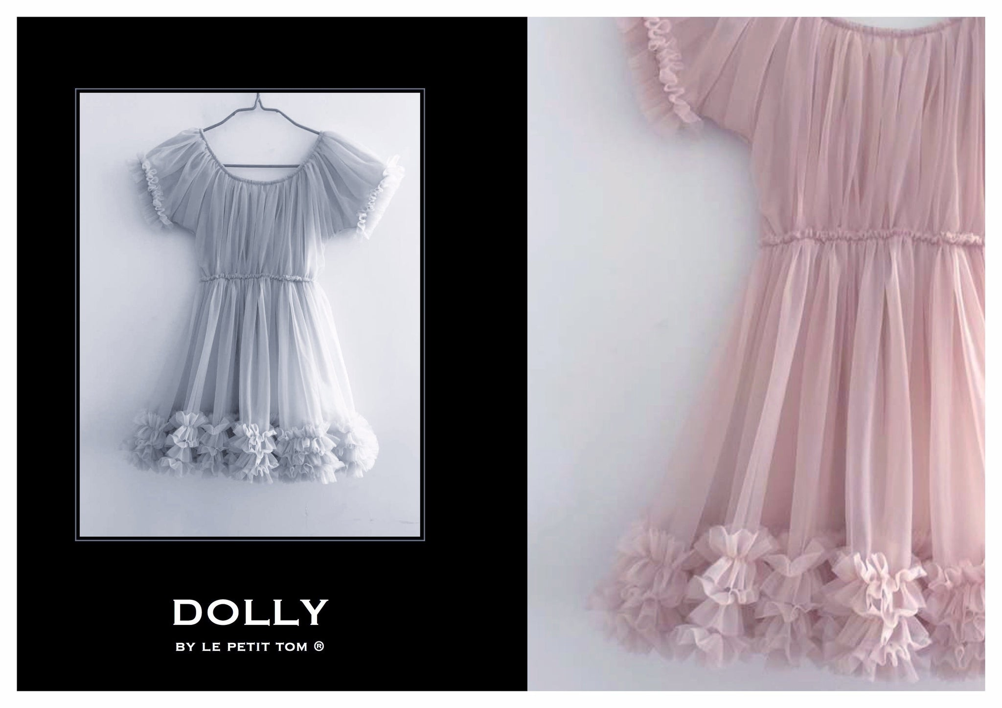 DOLLY by Le Petit Tom ® FRILLY DRESS rosepink