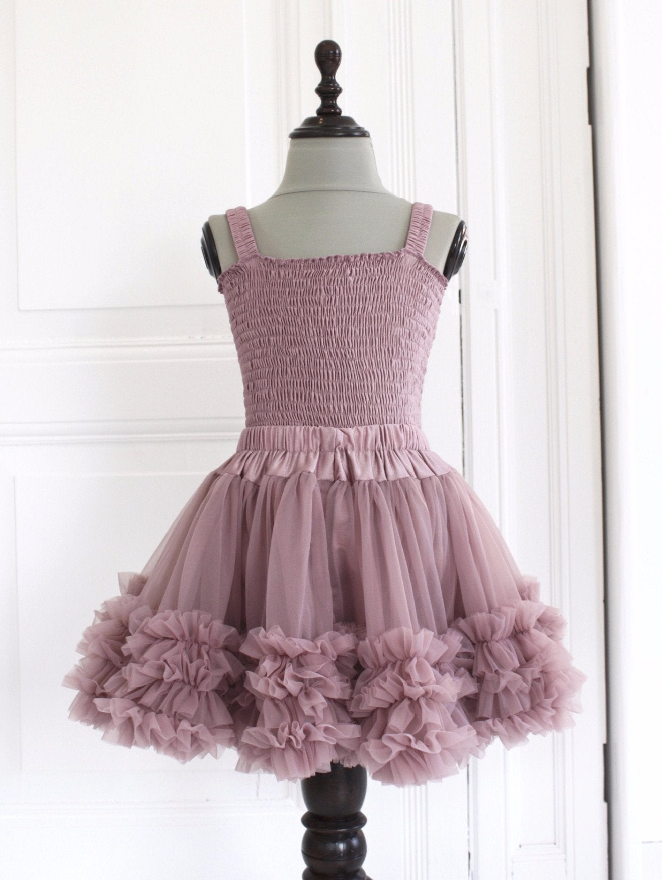 DOLLY by Le Petit Tom ® FRILLY TOP mauve - DOLLY by Le Petit Tom ®