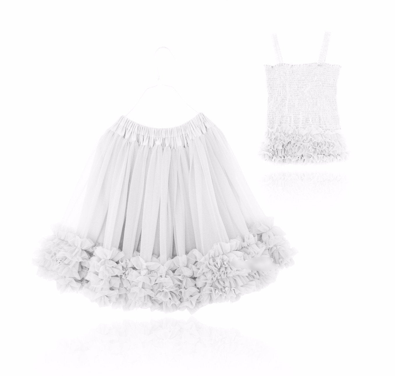 DOLLY by Le Petit Tom ® FRILLY SET SKIRT & TOP off-white - DOLLY by Le Petit Tom ®