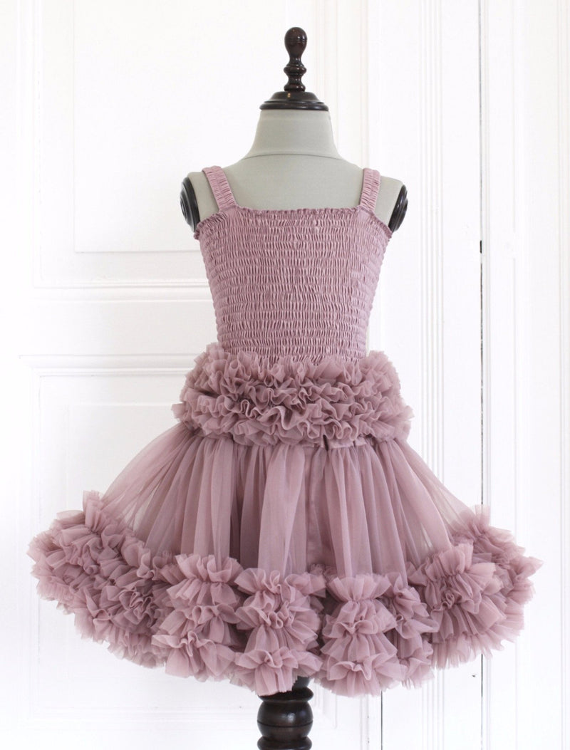 DOLLY by Le Petit Tom ® FRILLY SET SKIRT & TOP mauve - DOLLY by Le Petit Tom ®