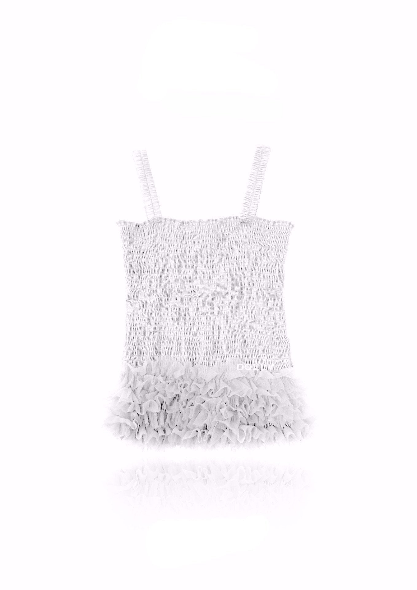 DOLLY by Le Petit Tom ® FRILLY TOP off-white - DOLLY by Le Petit Tom ®