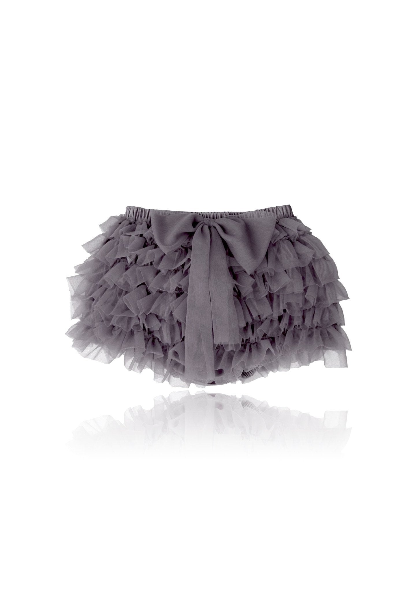 DOLLY by Le Petit Tom ® FRILLY PANTS dark grey - DOLLY by Le Petit Tom ®