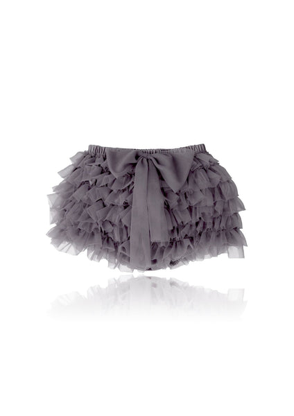 DOLLY by Le Petit Tom ® FRILLY PANTS dark grey