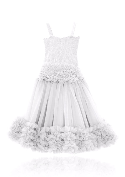 DOLLY by Le Petit Tom ® FRILLY SET SKIRT & TOP off-white