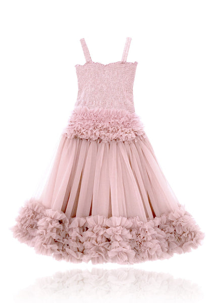 DOLLY by Le Petit Tom ® FRILLY SET SKIRT & TOP rose pink
