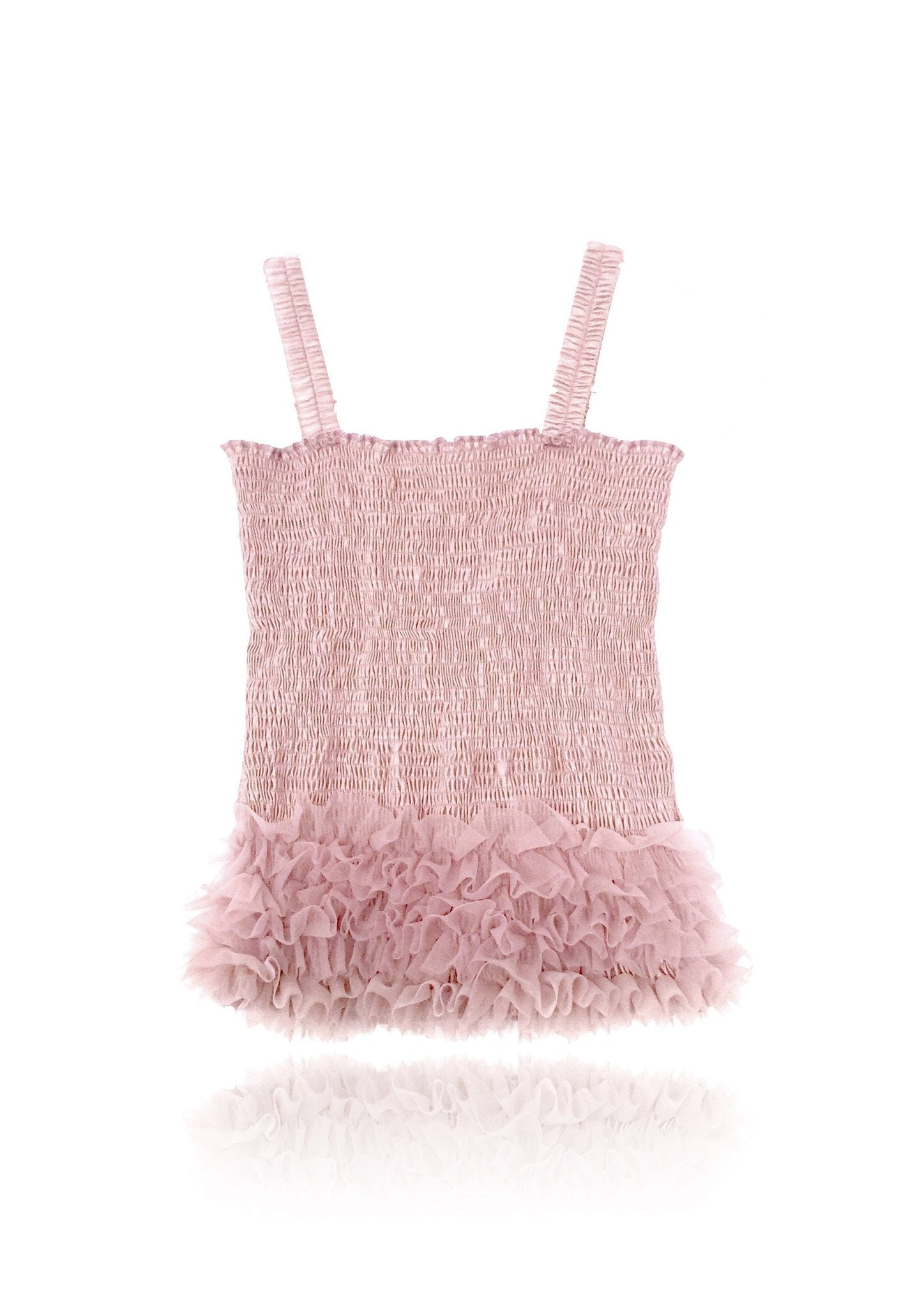 DOLLY by Le Petit Tom ® FRILLY TOP rose pink - DOLLY by Le Petit Tom ®