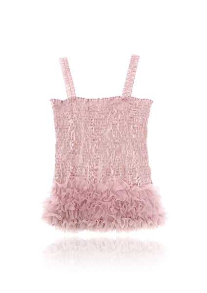DOLLY by Le Petit Tom ® FRILLY TOP rose pink