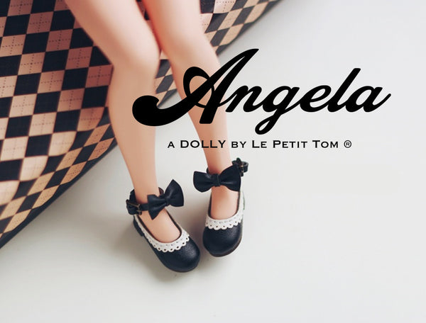 ANGELA Doll BOW KNOT MARY JANES ANKLE STRAP SHOES more colors-dolls-DOLLY by Le Petit Tom ®