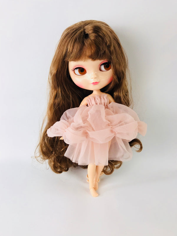 [ PRE ORDER *] ANGELA Doll clothing DOLLY's BUBBLE DRESS ballet pink