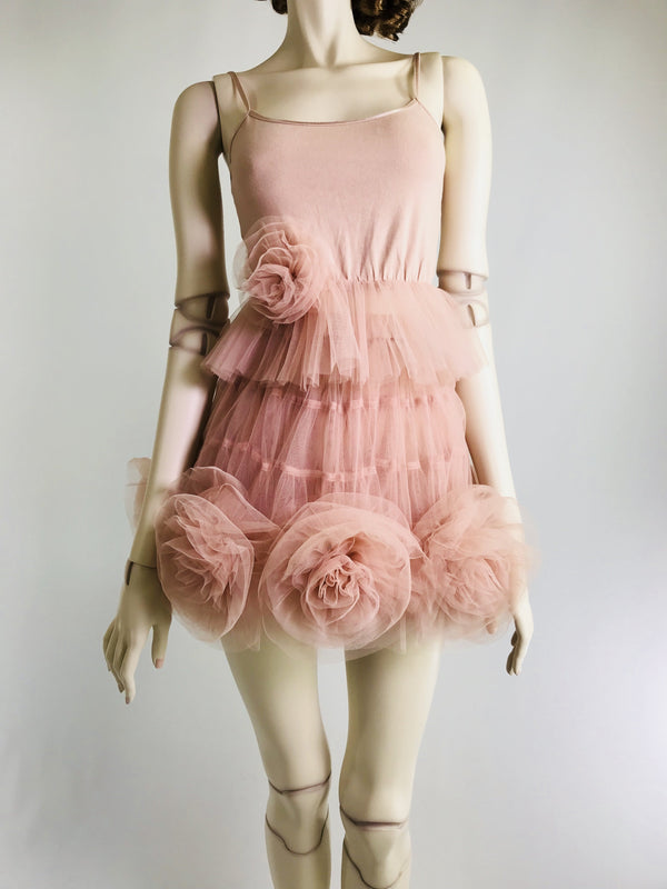 [ PRE ORDER *] DOLLY by Le Petit Tom ® Rosette Tutu Skirt ballet pink