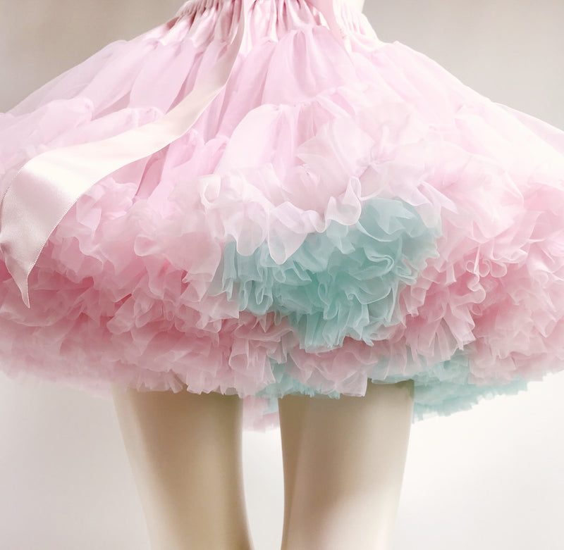 DOLLY by Le Petit Tom ® UNICORN pettiskirt baby pink with turquoise - DOLLY by Le Petit Tom ®