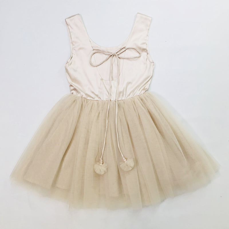 DOLLY by Le Petit Tom ® SIGNATURE BALLET DRESS coffee - DOLLY by Le Petit Tom ®