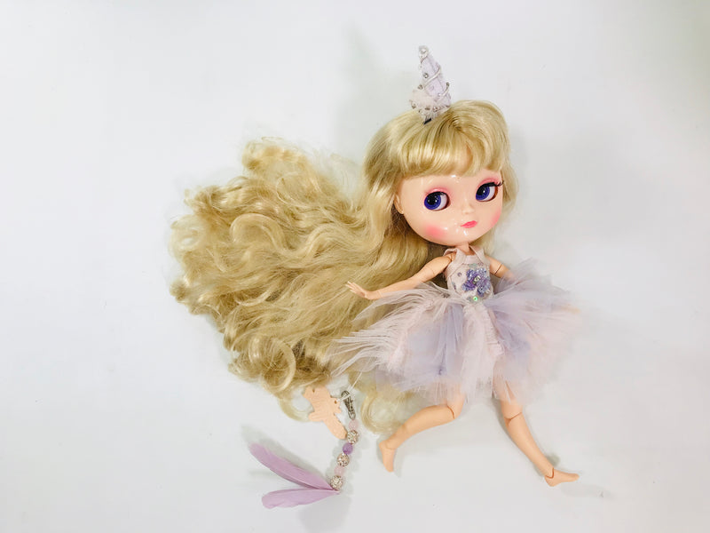ANGELA Doll clothing DOLLY's 'Beauties & Beasts' UNICORN TUTU DRESS & HAIR CLIP