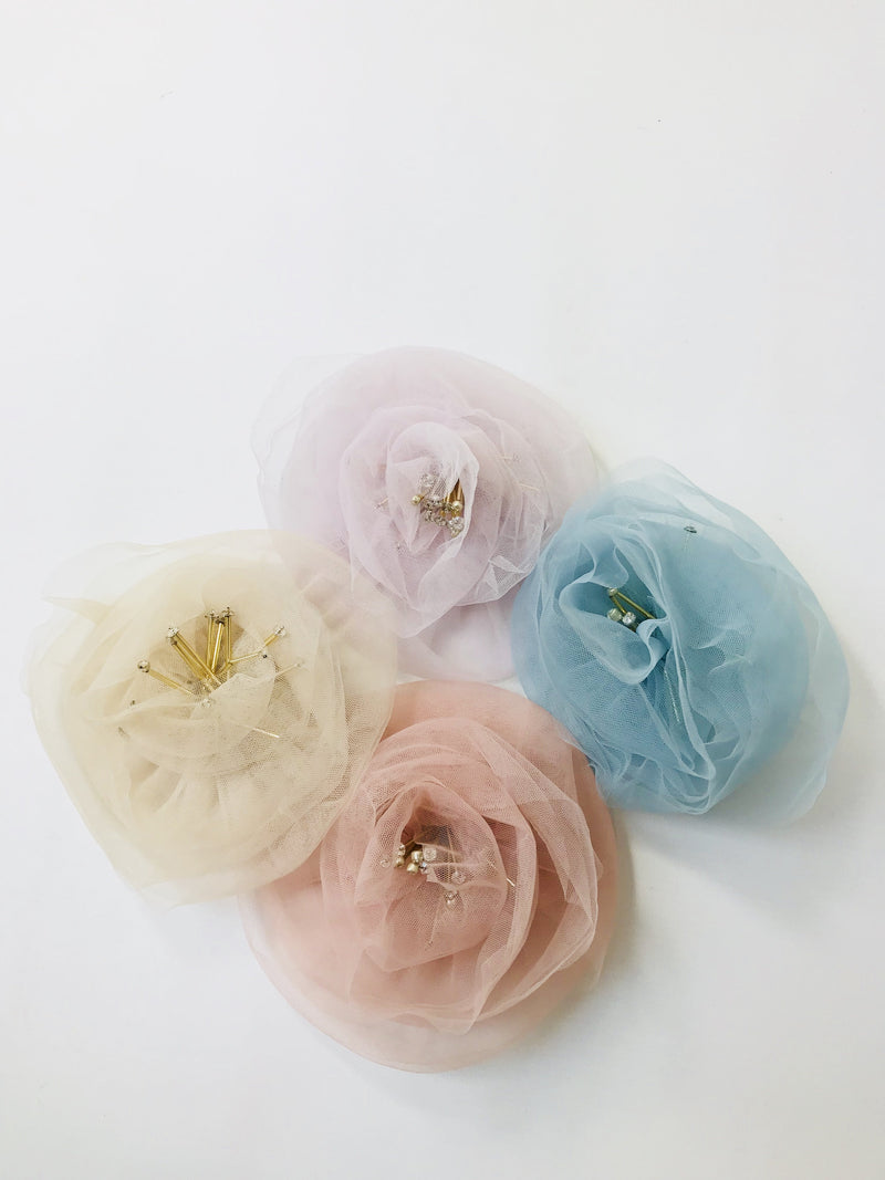 DOLLY by Le Petit Tom ® True Ballerina hair rosette hair clip & broach