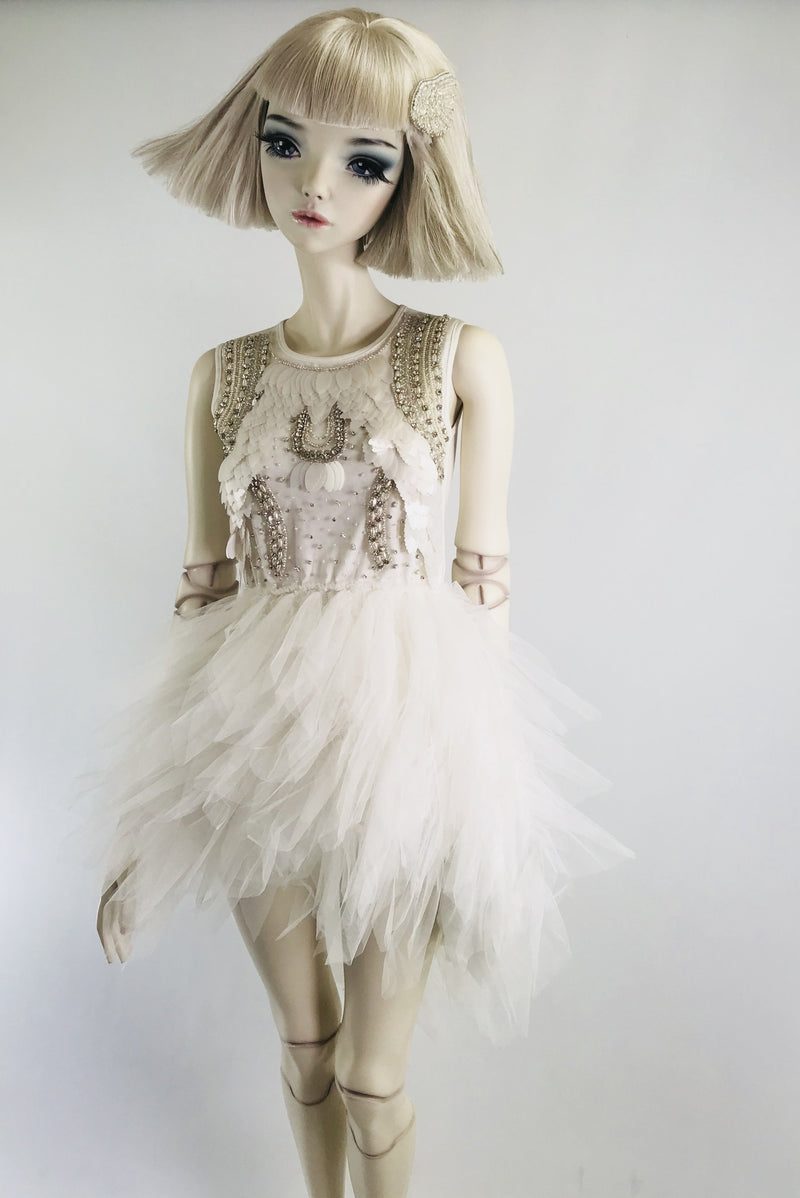 DOLLY by Le Petit Tom ® THE WHITE ANGEL tutu dress white - DOLLY by Le Petit Tom ®