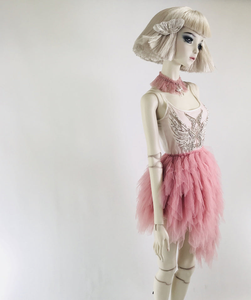 DOLLY by Le Petit Tom ® THE PINK ANGEL tutu dress pink - DOLLY by Le Petit Tom ®