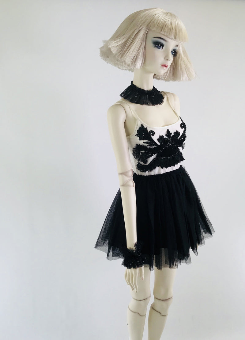 DOLLY by Le Petit Tom ® THE BLACK ANGEL tutu dress black - DOLLY by Le Petit Tom ®