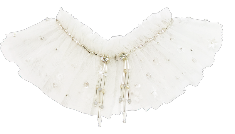 DOLLY by Le Petit Tom ® ANGELS neck ruffle white - DOLLY by Le Petit Tom ®
