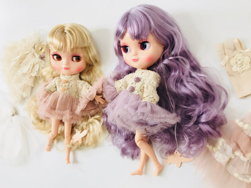 [ OUTLET] ANGELA Doll clothing DOLLY's BOHO TRUMPET TOP DRESS VIOLET