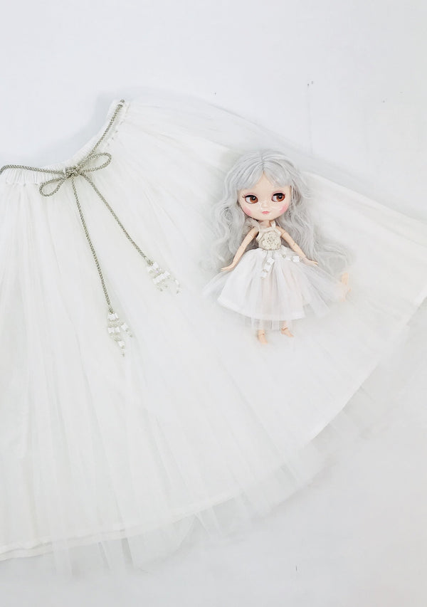 DOLLY by Le Petit Tom ® SIGNATURE LONG TUTU white