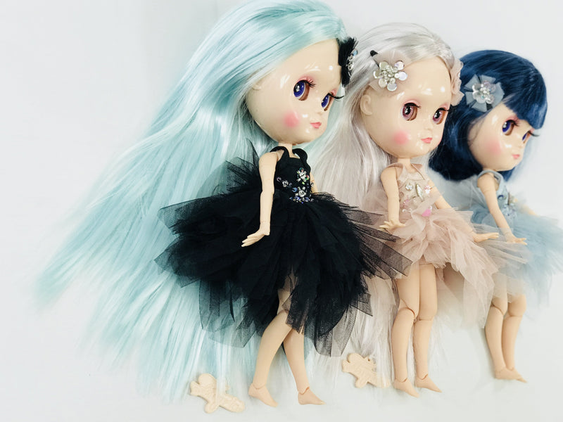 ANGELA Doll ICY doll LIGHT BLUE incl. Dolly Fashion & Doll Carrier bag-dolls-DOLLY by Le Petit Tom ®