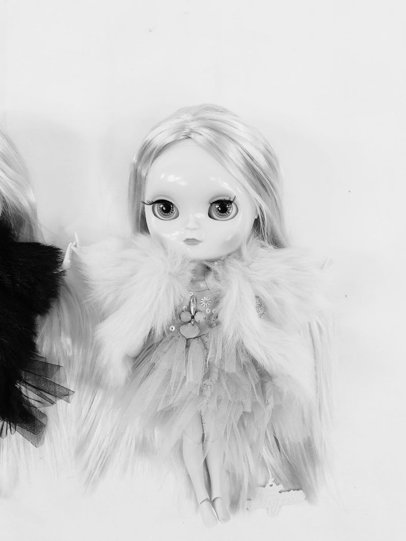 ANGELA Doll clothing DOLLY's FUR COAT ICE BEAR white-dolls-DOLLY by Le Petit Tom ®