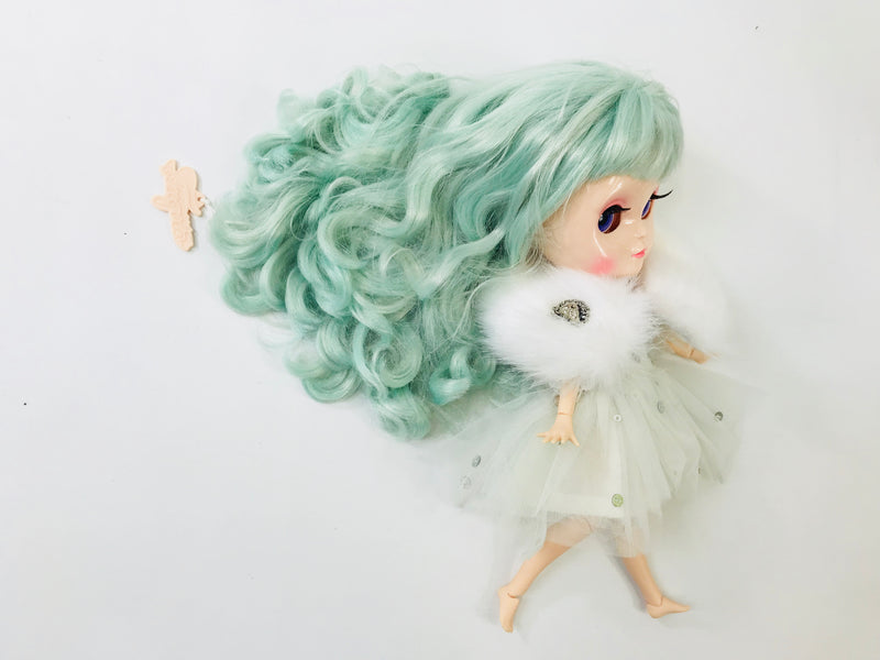 [ PRE ORDER *] ANGELA Doll clothing DOLLY's 'Beauties & Beasts' ONDINE TUTU DRESS beige/ light blue