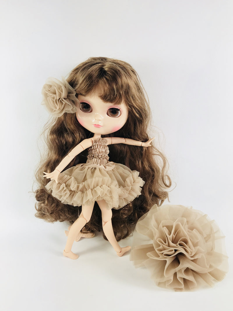 ANGELA Doll BROWN BRUNETTE/ TAUPE incl. Dolly Fashion & Doll Carrier bag-dolls-DOLLY by Le Petit Tom ®