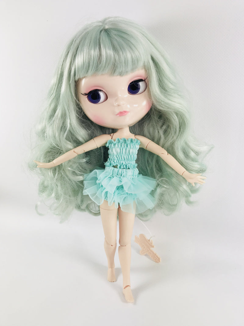 ANGELA Doll TURQUOISE/ TIFFANY GREEN incl. Dolly Fashion & Doll Carrier bag-dolls-DOLLY by Le Petit Tom ®