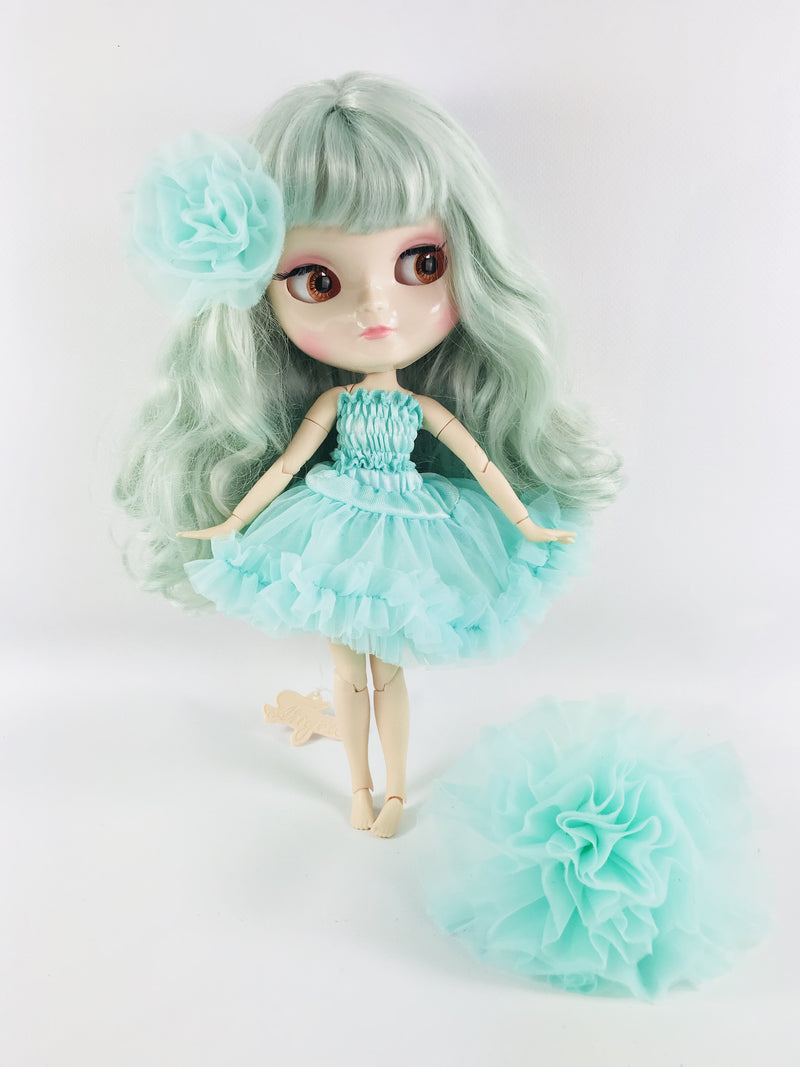 ANGELA Doll ICY doll TURQUOISE/ TIFFANY GREEN incl. Dolly Fashion & Doll Carrier bag-dolls-DOLLY by Le Petit Tom ®
