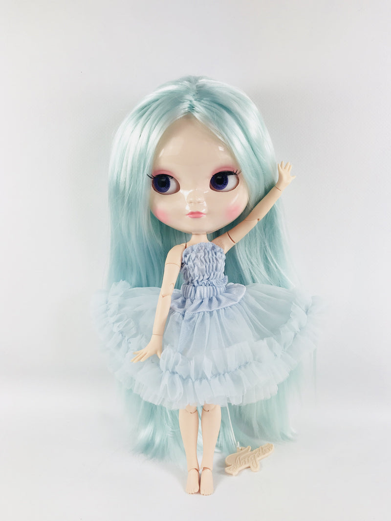 ANGELA Doll LIGHT BLUE incl. Dolly Fashion & Doll Carrier bag-dolls-DOLLY by Le Petit Tom ®