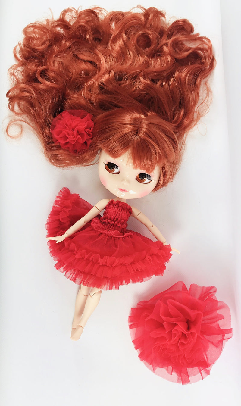 [ PRE ORDER *] ANGELA Doll RED incl. Dolly Fashion & Doll Carrier bag