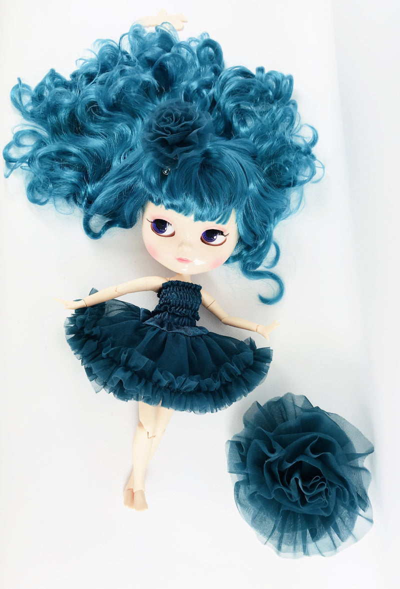 ANGELA Doll ICY doll EMERALD incl. Dolly Fashion & Doll Carrier bag-dolls-DOLLY by Le Petit Tom ®