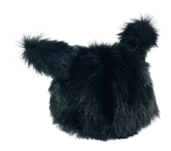 ANGELA Doll clothing DOLLY's FUR HAT WITH EARS BLACK PANTHER black-dolls-DOLLY by Le Petit Tom ®