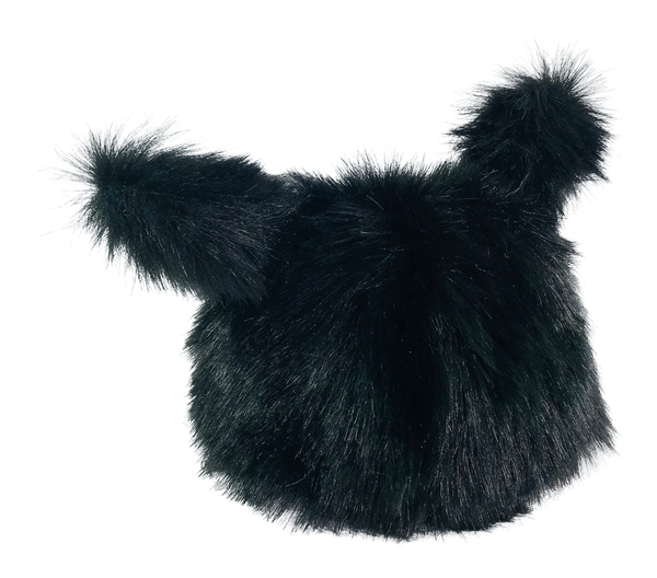 ANGELA Doll clothing DOLLY's FUR HAT WITH EARS BLACK PANTHER black