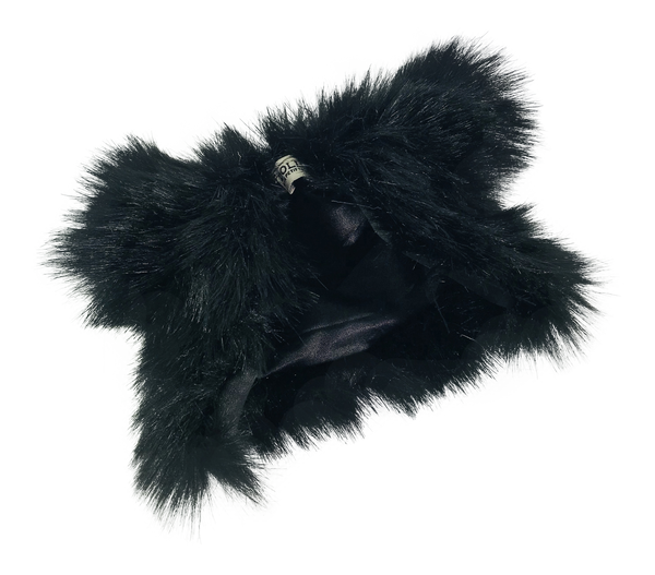 ANGELA Doll clothing DOLLY's FUR COAT BLACK PANTHER black