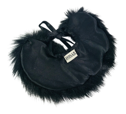 ANGELA Doll clothing DOLLY's FUR CAPE BLACK PANTHER black-dolls-DOLLY by Le Petit Tom ®