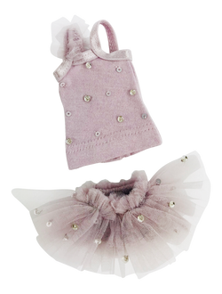 [ OUTLET] ANGELA Doll clothing DOLLY's TRUE BALLERINA TOP & BLOOMER SET VIOLET