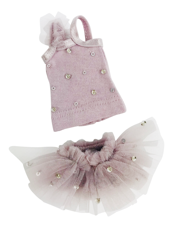 ANGELA Doll clothing DOLLY's TRUE BALLERINA TOP & BLOOMER SET VIOLET