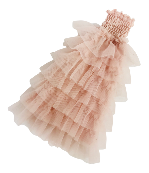 ANGELA Doll clothing DOLLY's RUFFLED DRESS ballet pink-dolls-DOLLY by Le Petit Tom ®