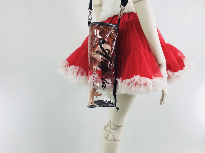 DOLLY by Le Petit Tom ® ANNIE pettiskirt red with white - DOLLY by Le Petit Tom ®