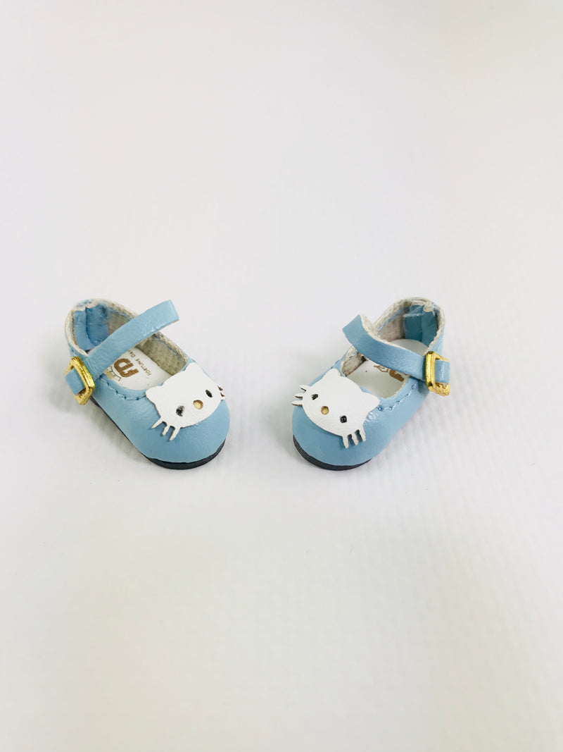 ANGELA Doll KITTY MARY JANES SHOES blue-dolls-DOLLY by Le Petit Tom ®