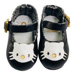 ANGELA Doll KITTY MARY JANES SHOES black