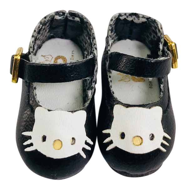 ANGELA Doll KITTY MARY JANES SHOES black-dolls-DOLLY by Le Petit Tom ®