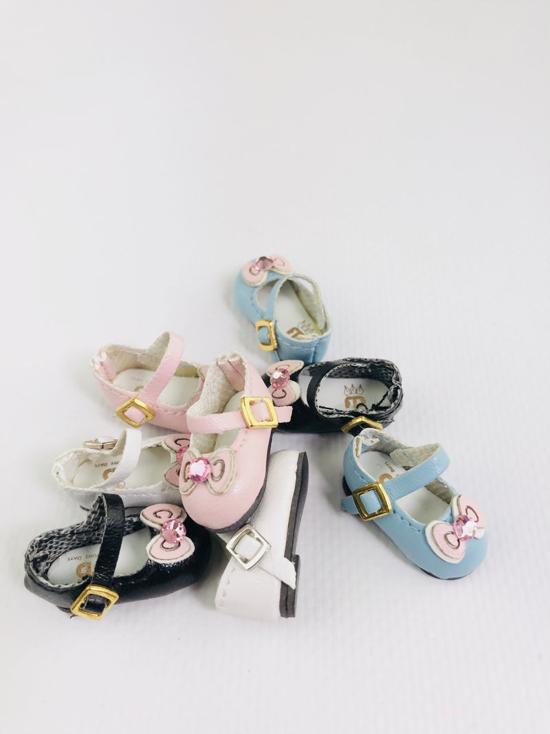 ANGELA Doll BOW TIE MARY JANES SHOES more colors-dolls-DOLLY by Le Petit Tom ®