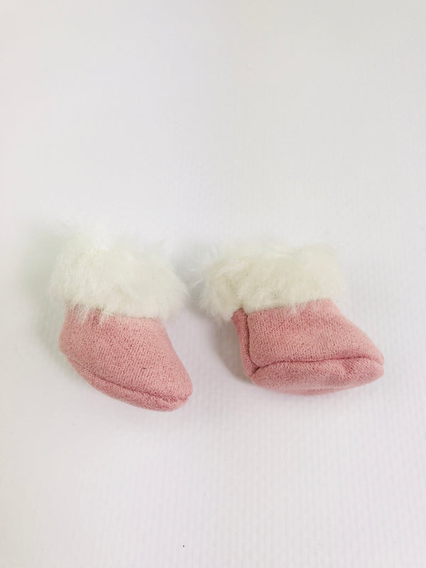 ANGELA Doll FAUX SUEDE FUR BOOTS pink