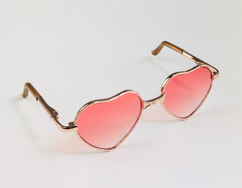ANGELA Doll SUNGLASSES HEART SHAPED METAL FRAME pink-dolls-DOLLY by Le Petit Tom ®