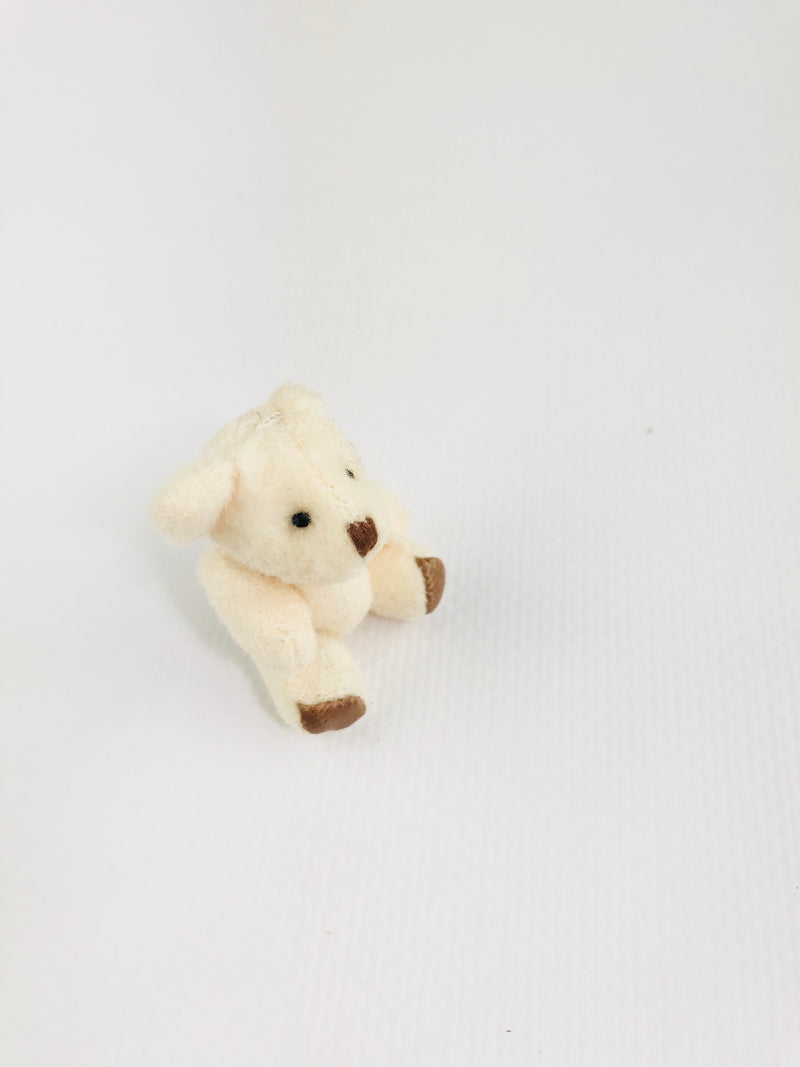 ANGELA Doll MINI JOINTED TEDDY BEAR offwhite