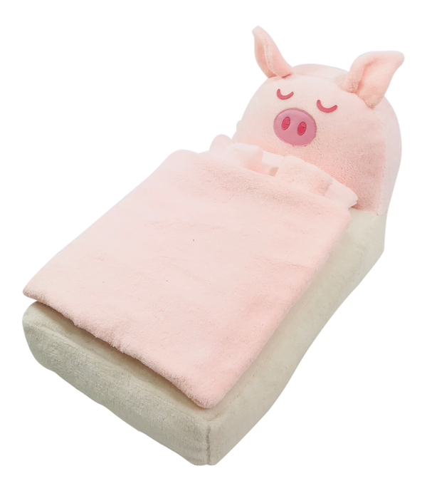 [ OUTLET!] ANGELA Doll PLUSH PIGGY BED WITH BLANKET